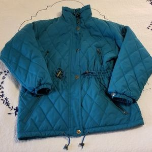 OSSI Teal Quilted Ski Jacket